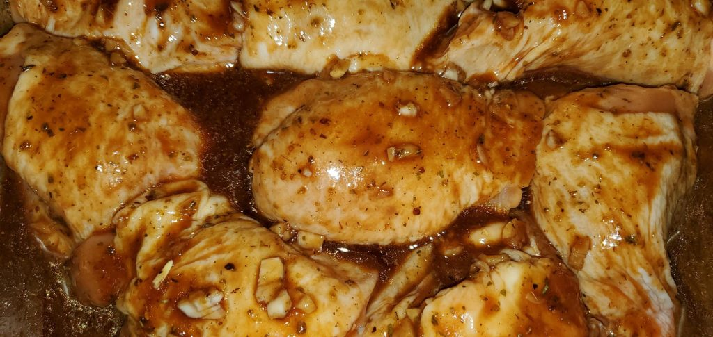 Homemade Marinade with Baked Chicken